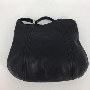 Pour La Victoire Black Leather Shoulder Handbag